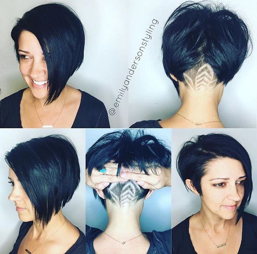 Short asymmetrical bobs hairstyle haircut 75