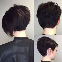 Short asymmetrical bobs hairstyle haircut 85