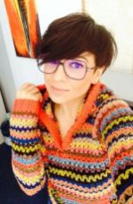 Short hair pixie cut hairstyle with glasses ideas 81