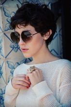 Short hair pixie cut hairstyle with glasses ideas 86