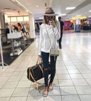 Summer airplane outfits travel style 12