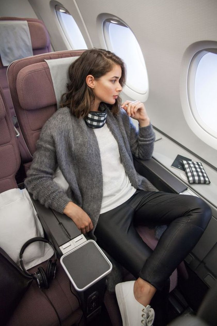 Summer airplane outfits travel style 22