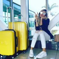 Summer airplane outfits travel style 60
