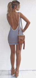 Summer casual backless dresses outfit style 10