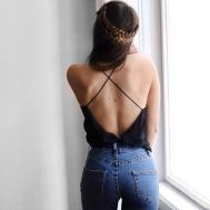 Summer casual backless dresses outfit style 100