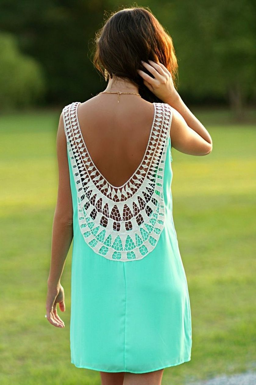 Summer casual backless dresses outfit style 104