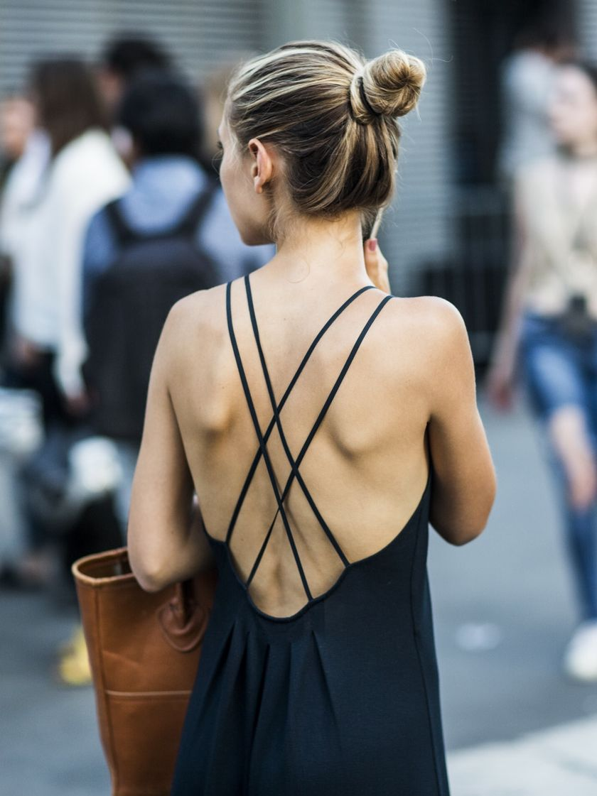Summer casual backless dresses outfit style 107
