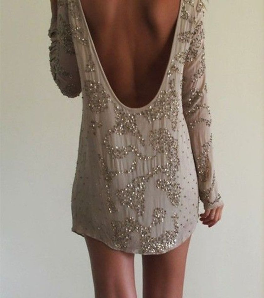 Summer casual backless dresses outfit style 110