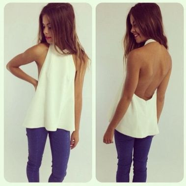 Summer casual backless dresses outfit style 25