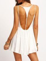Summer casual backless dresses outfit style 28