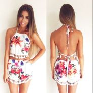 Summer casual backless dresses outfit style 29