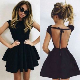 Summer casual backless dresses outfit style 31