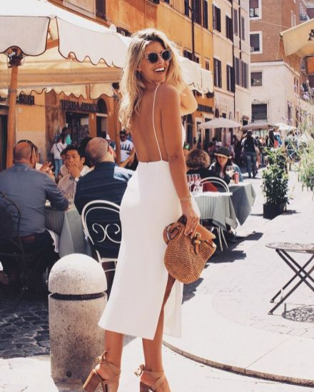 Summer casual backless dresses outfit style 33
