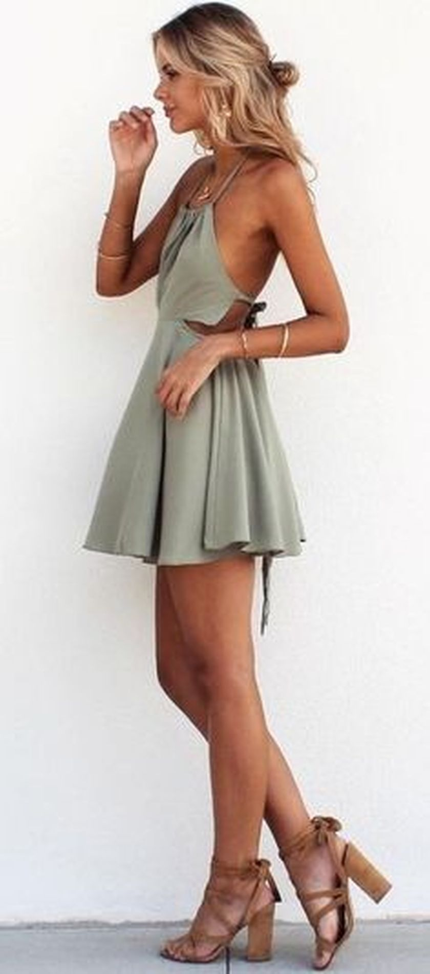 Summer casual backless dresses outfit style 37