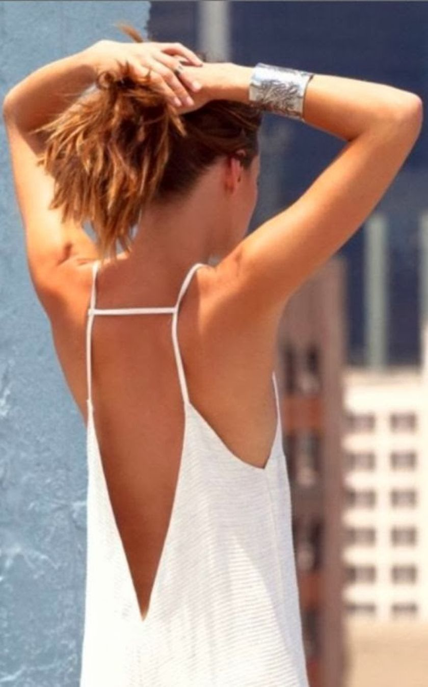 Summer casual backless dresses outfit style 45