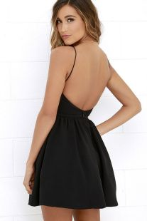 Summer casual backless dresses outfit style 47