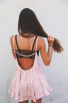 Summer casual backless dresses outfit style 48