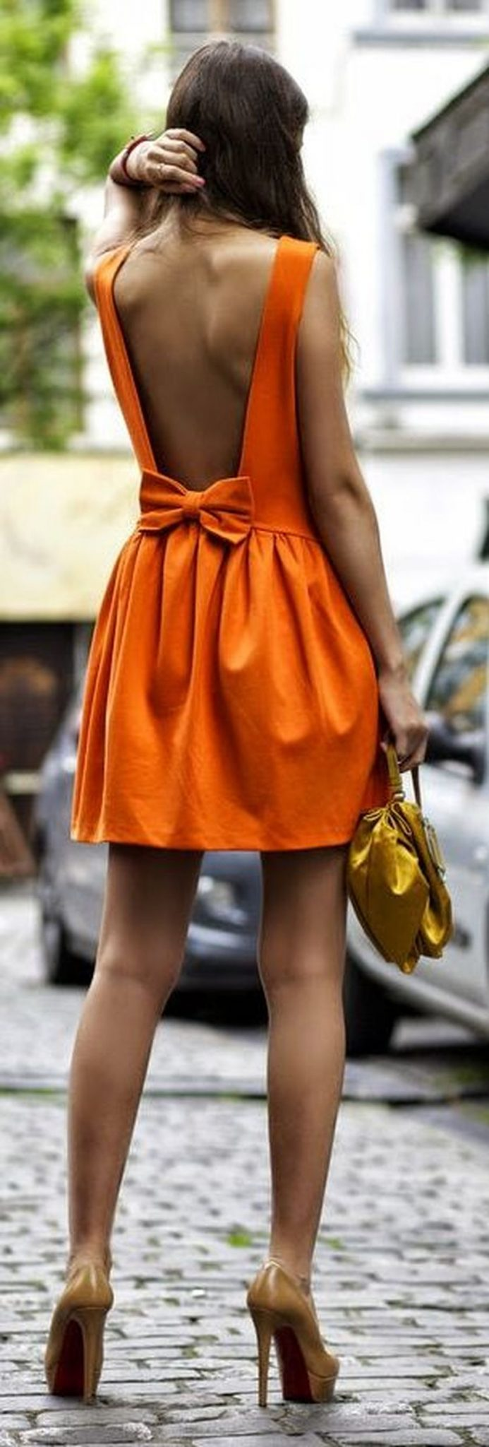 Summer casual backless dresses outfit style 49