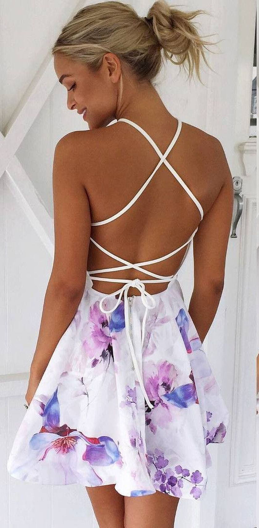 Summer casual backless dresses outfit style 52