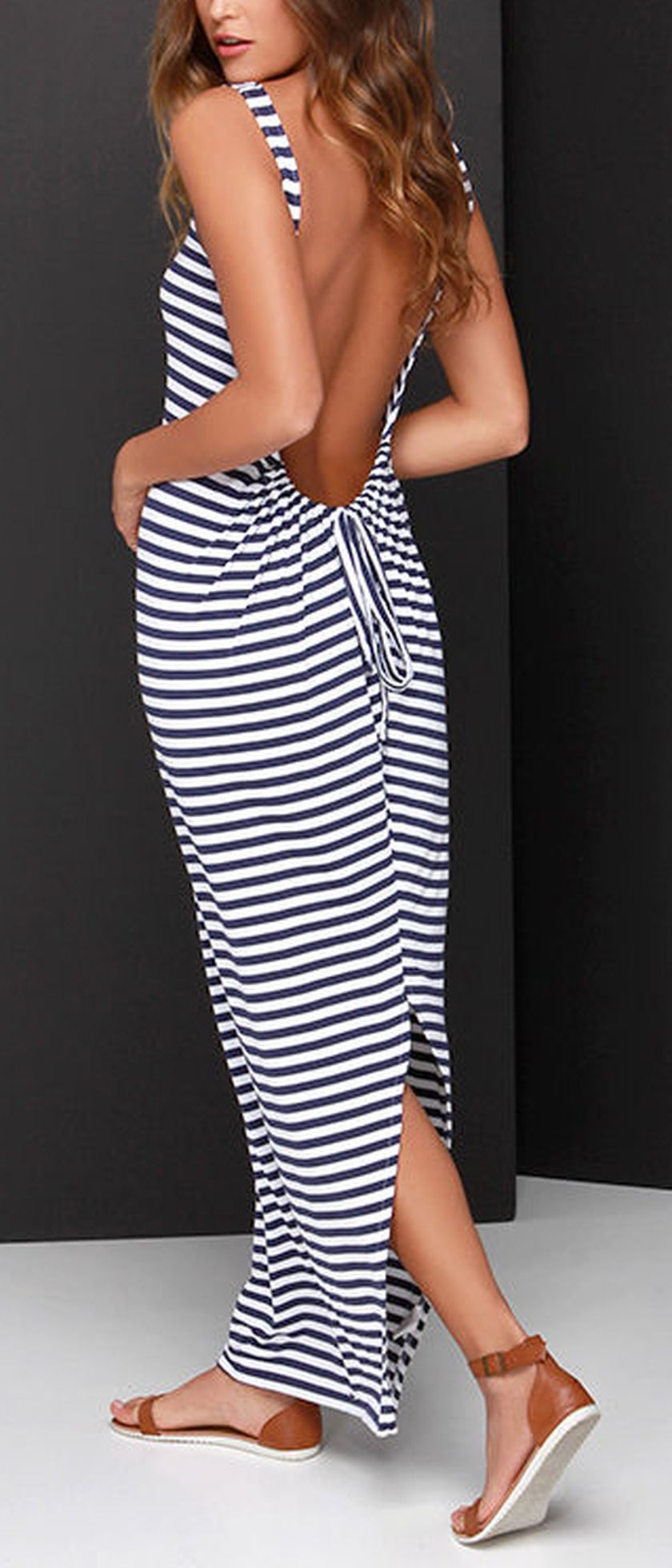 Summer casual backless dresses outfit style 56