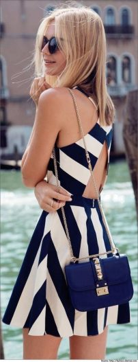 Summer casual backless dresses outfit style 58