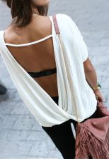 Summer casual backless dresses outfit style 81