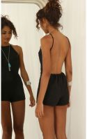 Summer casual backless dresses outfit style 94