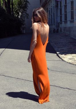 Summer casual backless dresses outfit style 98