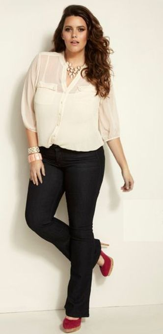 Summer casual work outfits ideas for plus size 46