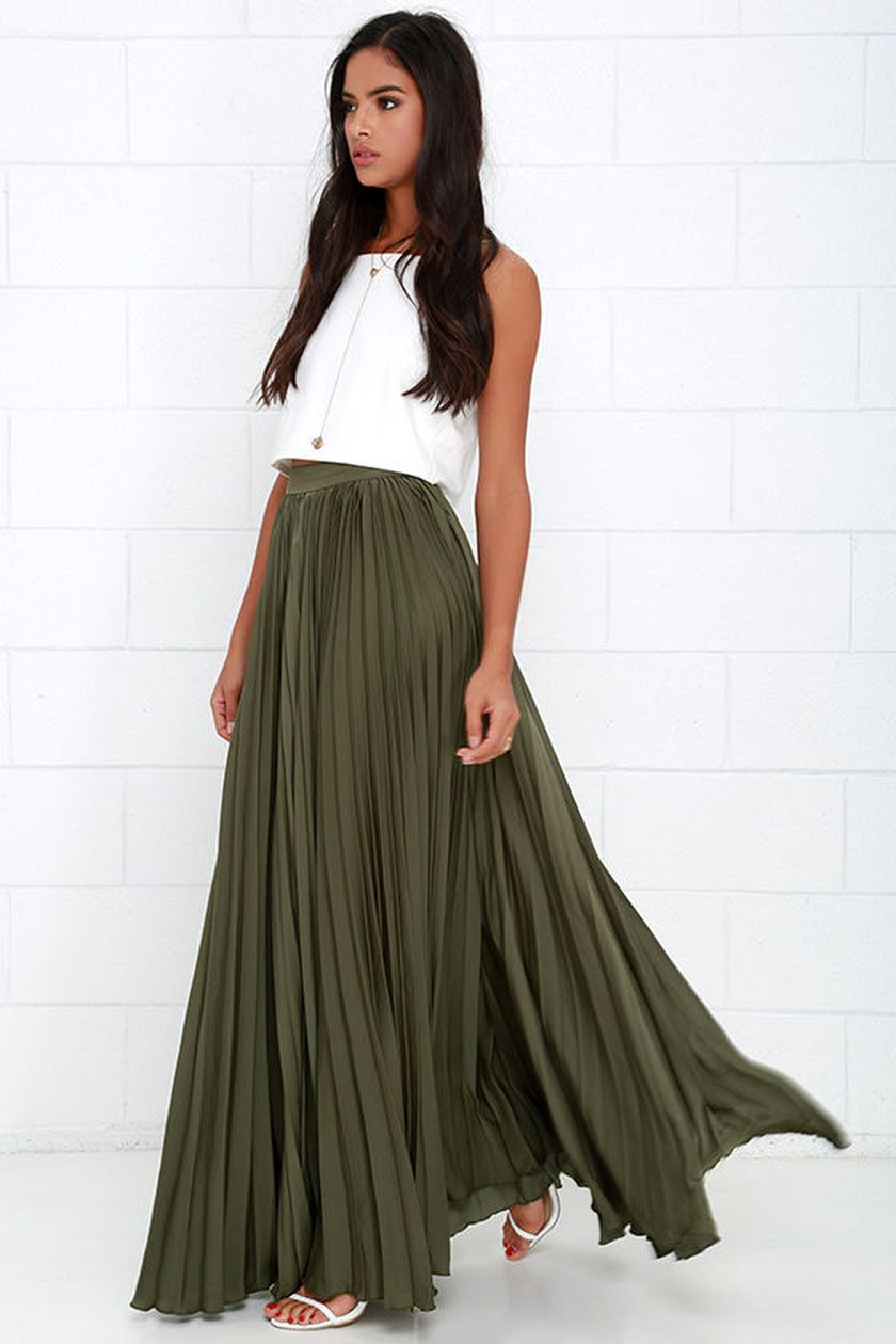 Summers casual maxi skirts ideas 1