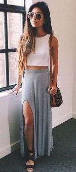 Summers casual maxi skirts ideas 11