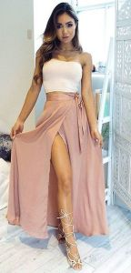 Summers casual maxi skirts ideas 13