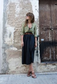 Summers casual maxi skirts ideas 25