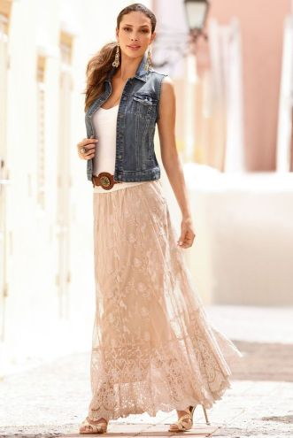 Summers casual maxi skirts ideas 27