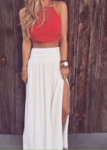 Summers casual maxi skirts ideas 32
