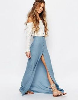 Summers casual maxi skirts ideas 33