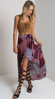 Summers casual maxi skirts ideas 4