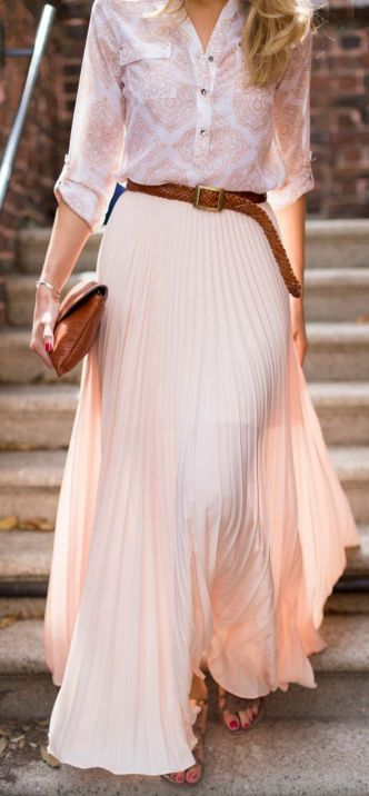 Summers casual maxi skirts ideas 41