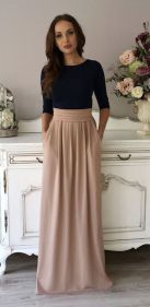 Summers casual maxi skirts ideas 43
