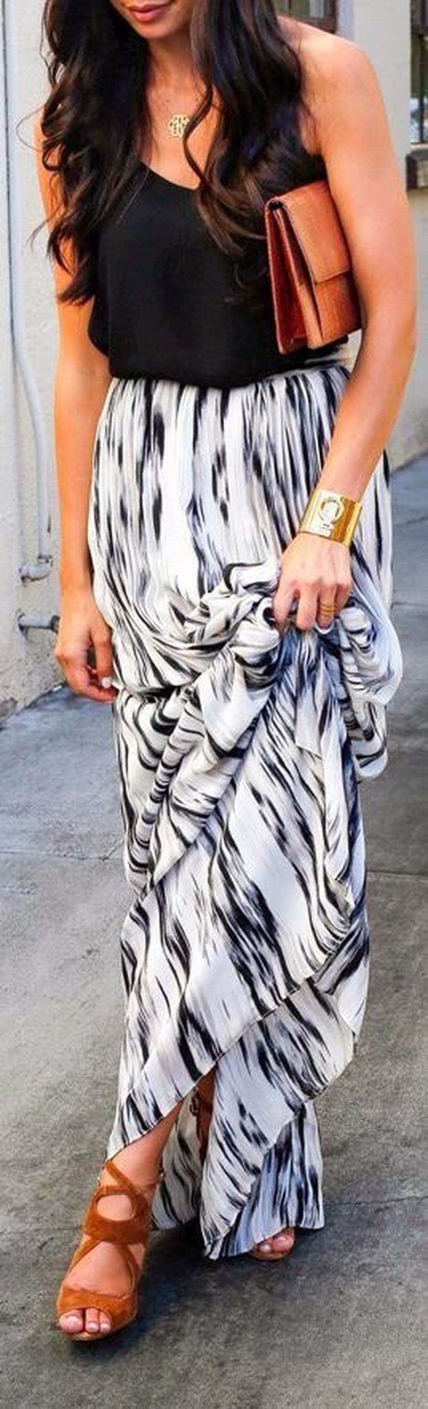 Summers casual maxi skirts ideas 47