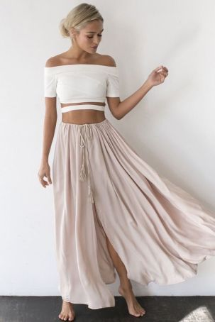 Summers casual maxi skirts ideas 48