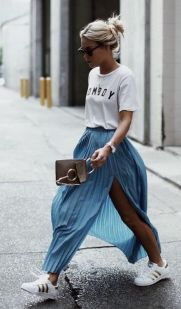 Summers casual maxi skirts ideas 55