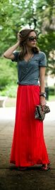 Summers casual maxi skirts ideas 65