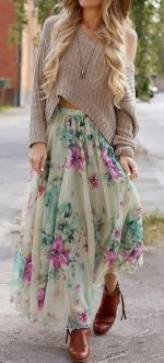 Summers casual maxi skirts ideas 68