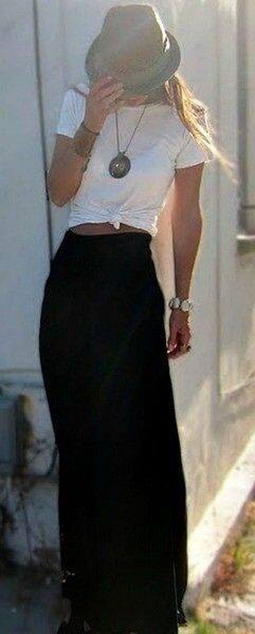 Summers casual maxi skirts ideas 9