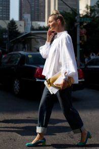 Awesome oversized white shirt outfit style ideas 29