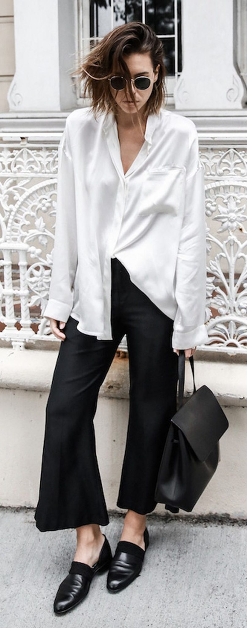Awesome oversized white shirt outfit style ideas 35