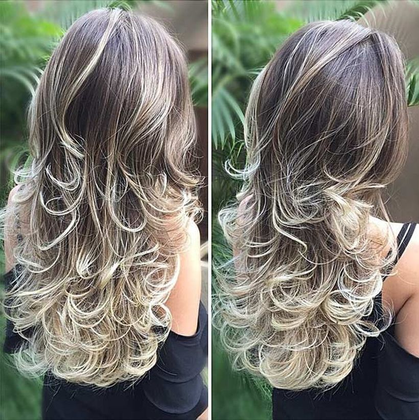 Beautiful curly layered haircut style ideas 83