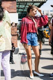 Best high waisted short denim outfits style 28