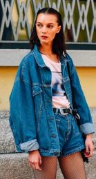 Best high waisted short denim outfits style 30